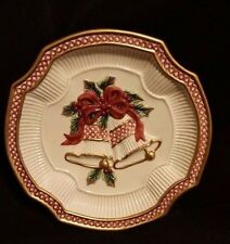 Holiday Bells by Fitz and Floyd Essentials 8 3/4 inch Canape Plate FREE SHIPPING