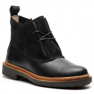 BNIB Clarks Boots TRACE FAWN Black Leather  Combi UK 5/38 RRP £105