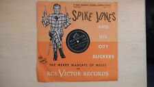 """RARE RCA Victor Records Spike Jones I SAW MOMMY KISSING SANTA CLAUS 10""""78rpm 50s"""