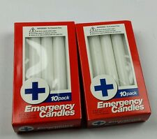 "Emergency candles - 2 packs of 10 - total of 20 - 6.5""x3/4"" -"