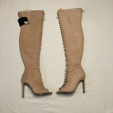 Forever 21 Above Knee Open Toe Blush Color Women's Size 7.5 Boots