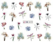 Nail Art Decals Transfers Stickers Multicoloured Flowers Tulips (BN872)