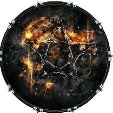 "22"" Custom Bass Kick Drum Front Head Graphic Graphical Pentagram Fantasy"