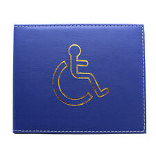 PU Leather Disabled Badge Holder - Parking Permit Hologram Display Wallet Cover