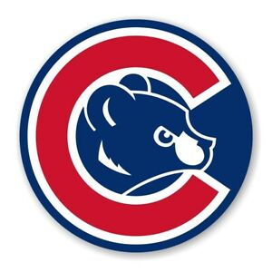 Chicago Cubs Round Precision Cut Decal
