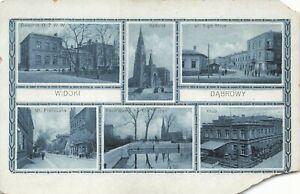 Postcard Ephemera 1916 Widoki Dabrowy Dąbrowa Górnicza Warshaw Poland Polish POL