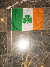 "12x18 Whole Sale Lot of 12  Ireland Shamrock Stick Flags 12""x18"""