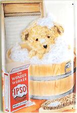 "Ipso Soap 8"" X 12"" Embossed Metal Sign Teddy Bear Bath"