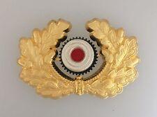 WWII Germany/German Army or Heer Generals metal peaked cap wreath and cockade
