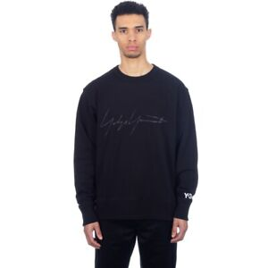 adidas by Y-3 Distressed Signature Crew Sweat Size XL Black RRP £200 Brand New