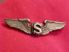 ORIG WWII RARE USAAF SHIRT SIZE SERVICE PILOT WINGS - BLACKINTON STERLING