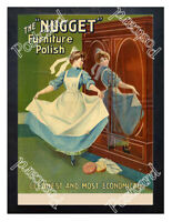 Historic 'Nugget' Furniture Polish, Advertising Postcard