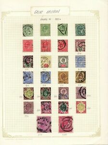 GREAT BRITAIN : 1902 Edward VII sets to 5/s on album page  CV=£500+  see scan