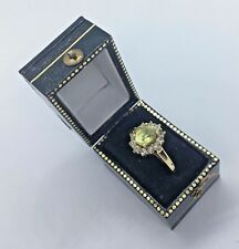 Gems Tv 9ct Yellow Gold Sphene & White Topaz Ring - Size N 1/2 (With COA)