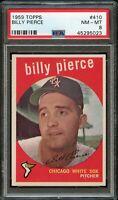 1959 Topps BB Card #410 Billy Pierce Chicago White Sox PSA NM-MT 8 !!!