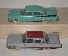 Lot of 2 Vintage Dinky Cars #192 Desoto Fireflite & #191 Dodge Royal Sedan HW63