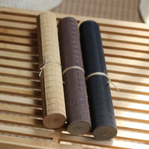Bamboo Table Runner Coffee Tea Shop Decoration Table Mat Vintage Table Cover