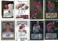 LOT Of 12 AUTO Montreal Canadiens Signature Autograph UD Hockey Card NHL Autos