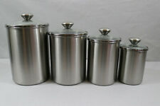 Chef's Mark 4 Piece Stainless Steel Canister Set