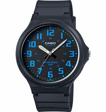 Casio MW240-2BV, Analog Watch, Black Resin Band, 50 Meter Water Resistant