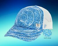 New Billabong Heritage Blue Paisley Womens Trucker Snapback Cap Hat