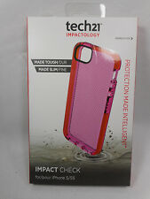 Tech21 Made Tough Made Slim Impact Check iPhone 5/5s Case, Pink, Open Box