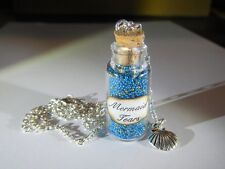 Mermaid Tears Bottle Charm Necklace Birthday Party Gift Pirates of the Carribean