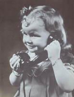 Vintage 1950s print Little Girl on Telephone