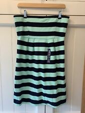 Gap Bandeau Navy / Aqua Stripe Mini Dress BNWT UK14
