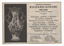 Pubblicità 1923 RICHARD GINORI CERAMICA FIRENZE advert werbung publicitè reklame
