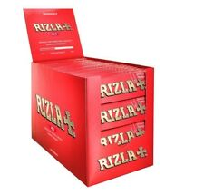 50 Rizla Red 2500 x Regular Standard Cigarette Rolling Papers Red