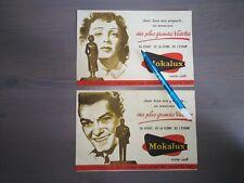 COLLECTOR , ancien buvard publicitaire Édith piaf Jean marais café mokalux