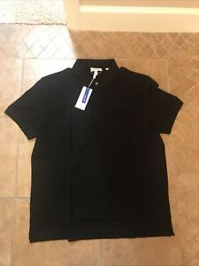 Lacoste Mens Short Sleeve Regular Fit Stretch Cotton Paris Polo In Black XL NWT