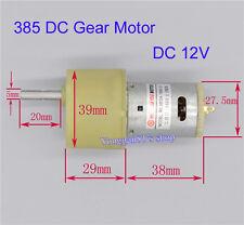 6V 12V 24V DC Motor Geared Motor Full Metal Gear Motor 30RPM-60RPM