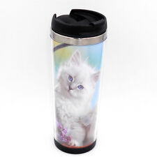 Persian Cat Kitty Mug Creative Travel Coffee Water Tea Cup for Cars Adults 400ML