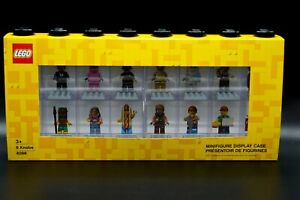 Lego 4066 Minifiguren Display Case - Schaufenster - für 16 Figuren Schwarz NEU
