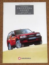 1994 VAUXHALL FRONTERA SPORT HARD & SOFT TOP Sales Brochure -Near Mint Condition
