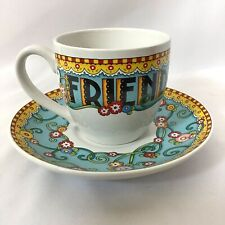 Mary Engelbreit Me Tea Cup & Saucer Friend Tried And True Coffee Cup Floral