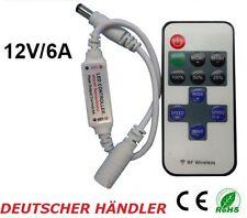 █► Mini Funk Dimmer Controller Regler mit Fernbedienung für LED Strip bis 6A ***