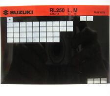Suzuki RL250 Exacta 1974 1975 Parts Microfiche s237