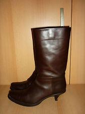 Prada Damen Schuhe, Stiefel,Vintage Stiefeletten, Gr. 37, Echt Leder, Italien