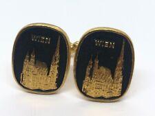 Vintage Cuff Links Vienna Wien Gold Tone