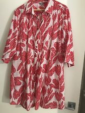NOUVELLE Smock,shirt,blouse, Christmas Red, SZ 18 Plus Size, AS NEW