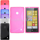 S Line Soft Rubber Case Back Cover Gel Silicone Skin For Nokia Lumia 520 Pink