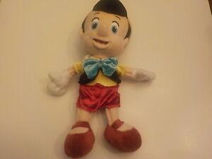 "Pinocchio plush doll little boy 11"" L"