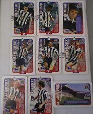NEWCASTLE UNITED SUBBUTEO SQUADS FOOTBALL CARDS 1996 Hasbro TRADING CARDS x 9