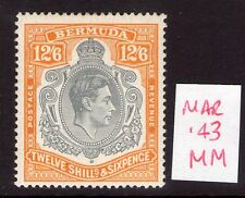 Bermuda Mar. 1943 12/6  SG120c Superb lightly hinged condition.