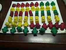 Vintage Diener Erasers Pencil Toppers -Fire Hydrants- Hats & Trucks-New Old Stoc