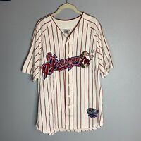 Vintage Miners Disney Grumpy Red Pinstripe Baseball Sportswear Jersey Mens Sz M