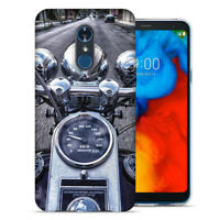 For LG Stylo 4 Motorcycle Chopper Design TPU Gel Phone Case Cover